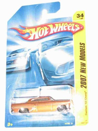 Hot Wheels 2007 New Models -#34 Custom '53 Chevy Bronze K-Mart Exclusive Collectibles Collector Car #2007-34 - Th Model Bronze