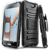 Evocel® HTC One A9 Case [Generation Series] Rugged Holster [Kickstand & Belt Swivel Clip] + HD Screen Protector For HTC One A9 / HTC Aero, Black (EVO-HTCA9-AB201)