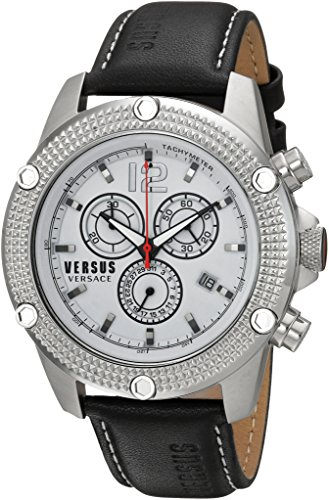 Versus-by-Versace-Mens-AVENTURA-Quartz-Stainless-Steel-and-Leather-Casual-Watch-ColorBlack-Model-SOC070015