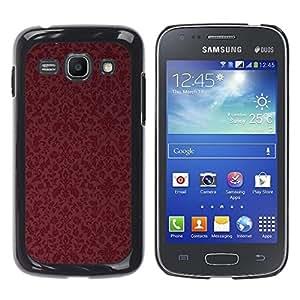Caucho caso de Shell duro de la cubierta de accesorios de protección BY RAYDREAMMM - Samsung Galaxy Ace 3 GT-S7270 GT-S7275 GT-S7272 - Maroon Wallpaper Retro
