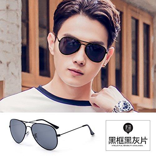 Caballero Gafas G LLZTYJ De Hombre San De Drive Conducción Decoración Impulsores Parejas Gafas Para Para Día Polarizadas Cara Mujer Sol Para Regalo Valentín De De Sol Gr B black gray Blue Gafas Redonda Eye De Sol OAdqnA