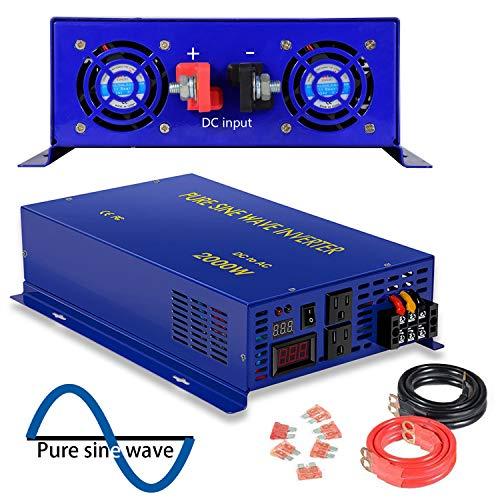 2500 Watt Pure Sine Wave Inverter 12V DC to 120V AC, 2500W P