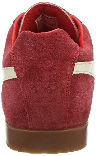 Gola Mens Harrier Mode Sneaker Rouge / Écru Daim