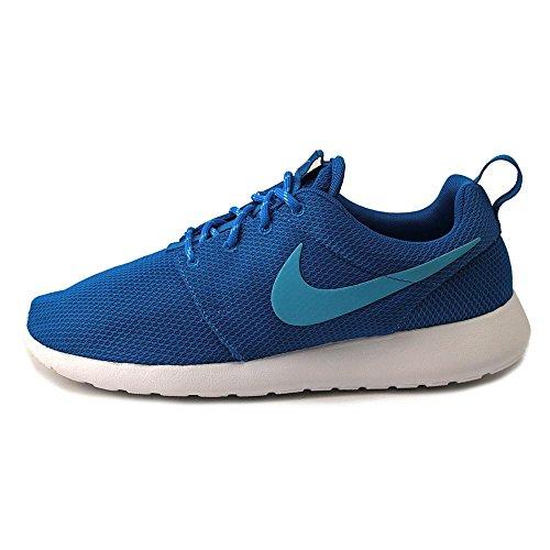 Nike Kvinders Rosherun Mørk Elektrisk Blå / Clearwater-hvid 511882-443 Sko dlesoF