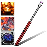 KOBWA Candle Lighter Long, USB Rechargeable Arc Lighter Windproof for Grill BBQ Camping