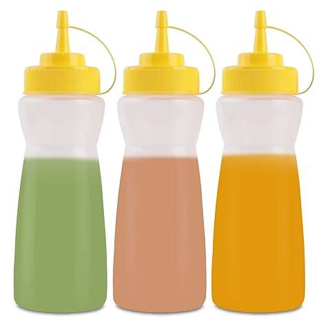 Amazon.com: SUJUDE - Botellas de plástico para salsas con ...