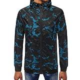 HEHEM Men Hoodies Christmas Eve Halloween Christmas Sweatshirts Pullover Top Jackets Coats Long Sleeve Hooded Sweatshirt Tops Blouse Mens Camouflage Zipper Pullover
