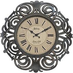 Infinity Instruments Paris Wall Clock, 18, Ornamental Decorative