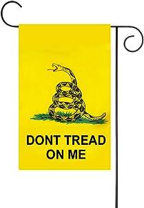FLAGLINK Gadsden Garden Flag - 12 x 18 inch Premium Garden Flag - Double Sided Dont Tread On Me Garden Flag