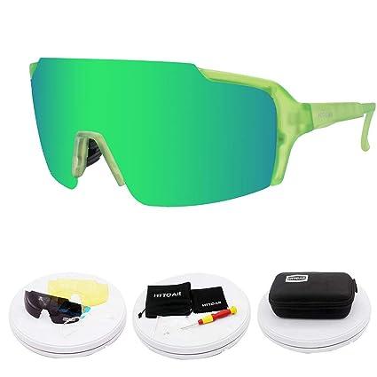 9b1e2642e8616 HTTOAR Polarized Sports Sunglasses Men Women Cycling Glasses Running  Driving Fishing Golf Baseball Can Replace 3