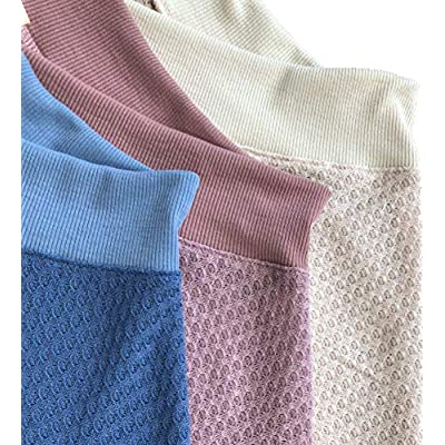 iGENJUN Women's Casual V-Neck Off-Shoulder Batwing Sleeve Pullover Sweater Tops at Women's Clothing store