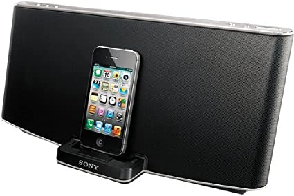 Amazon Com Sony Powerful 40 Watt Mega Bass Speaker Dock System For Ipod Iphone Ipad Plus Bluetooth Audio Streaming Auxiliary Input For Other Audio Devices And Wireless Remote Control Home Audio