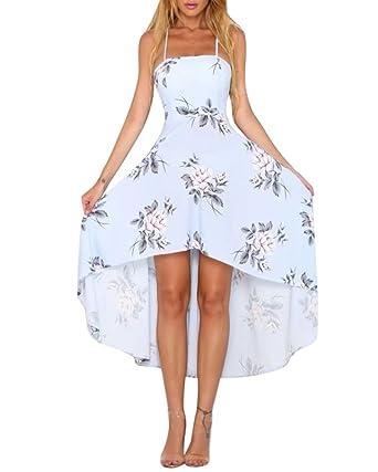 2f7cf05e3762 Damen Kleider Abendkleider Blumen Festliche Schulterfrei Asymmetrisch  Cocktailkleid Partykleid Ballkleid Kleid  Amazon.de  Bekleidung