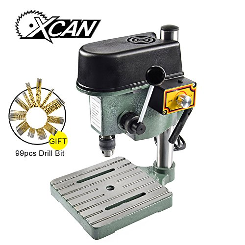 mini bench drill sets mini bench drill and portable for DIY with 1 set free 99pcs HSS drill bit by XCAN