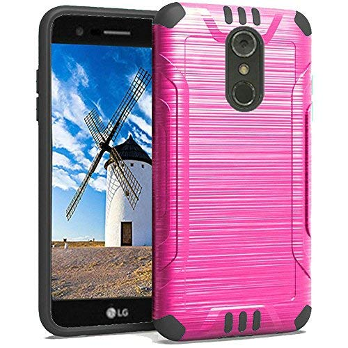 (LG Stylo 4 Brushed Metal (Hot Pink))