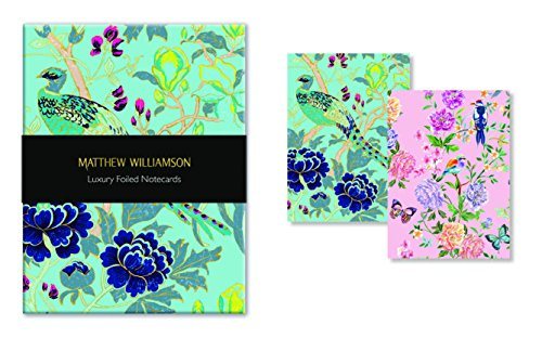 Museums & Galleries (MUT38) Matthew Williamson Luxury Foiled Notecards, Birds and - Home Matthew Williamson