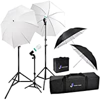 Julius Studio Photography & Video Portrait Studio Day Light Umbrella Continuous Lighting Kit, Photo Light Bulb, Socket, Light Stand Tripod, Carry Bag, Photo Studio Continuous Light Kit, JSAG264