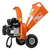 SuperHandy Wood Chipper Shredder Mulcher 7HP Gas Powered Max 3' Chipping Capacity Ultra Heavy Duty (Amazon Exclusive only for USA)