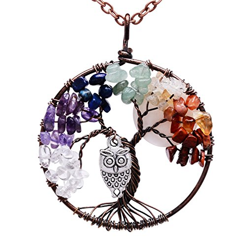 Pendant Wrapped Birthstone Necklace Natural