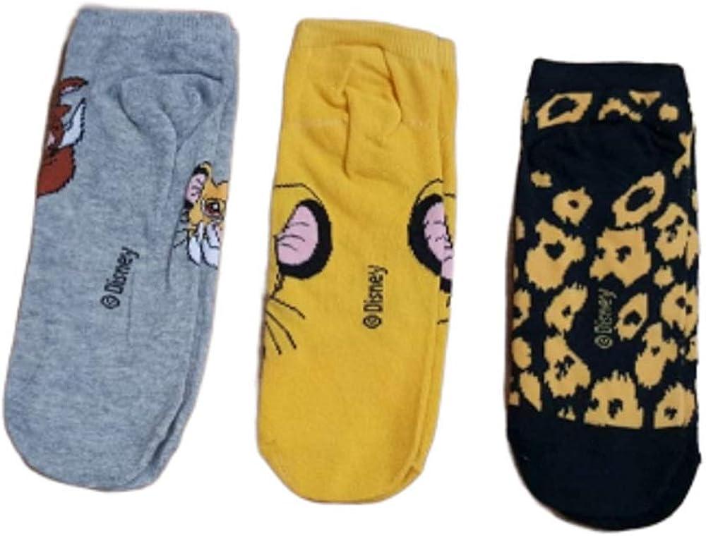 Lot de 3 paires de chaussettes sous licence Disney Le Roi Lion Simba
