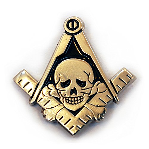 Masonic Exchange Skull and Crossbones Square and Compass Lapel Pin