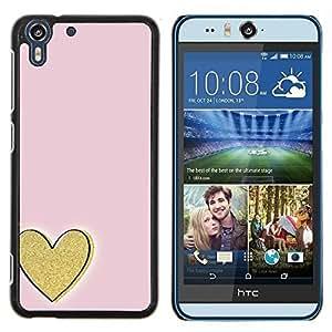 Stuss Case / Funda Carcasa protectora - Oro rosa del amor Minimalista - HTC Desire Eye ( M910x )