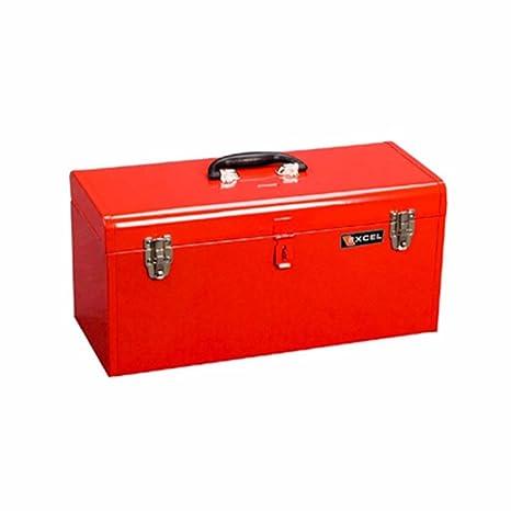 Charmant 20u0026quot; Portable Metal Tool Box Color: Red