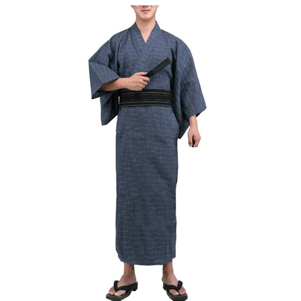 Fancy Pumpkin Kimono Giapponese da Uomo Jinbei Kimono Giapponese Home Robe Pigiama Vestaglia