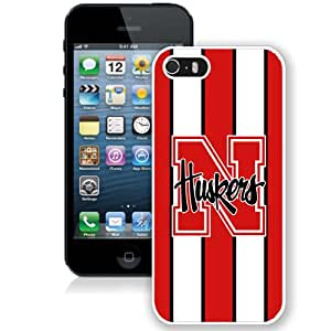 Fashion And Unique iPhone 5 5S Cover Case Ncaa Big Ten Conference Football Nebraska Cornhuskers 18 Protective Cell Phone Hardshell Cover Case For iPhone 5 5S White Phone Case