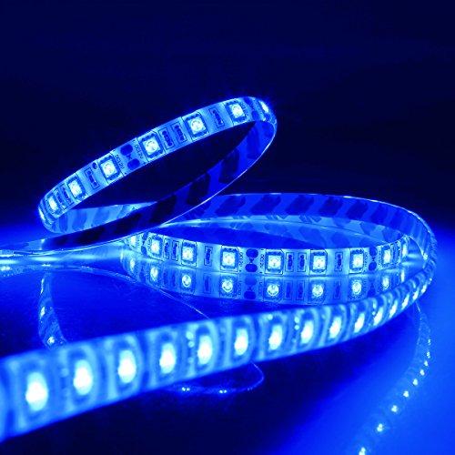 String Lights Qatar : SUPERNIGHT DC12V 5M 16.4Ft Blue 5050SMD 300LED Waterproof Flexible LED Light Strip lamp White ...