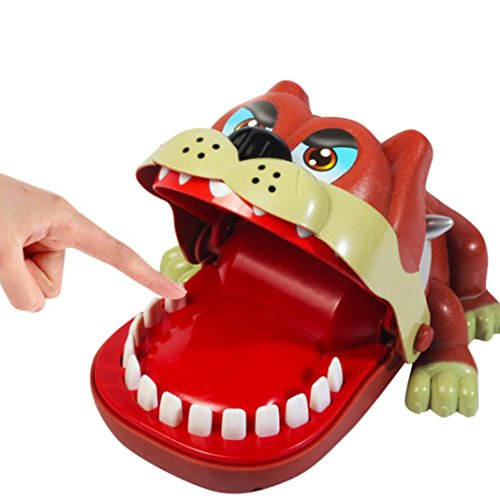 E-SCENERY 18CM Creative Cute Bulldog Dentist Game, Classic Biting Hand Party Game For Family Children Kid Adult
