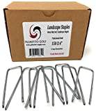 "150 Ct 4"" 11 Gauge Anti-Rust Heavy Duty Galvanized Professional Metal Sod / Landscape Staple and Fabric Pins - MADE IN THE USA - Palmetto Golf Brand"