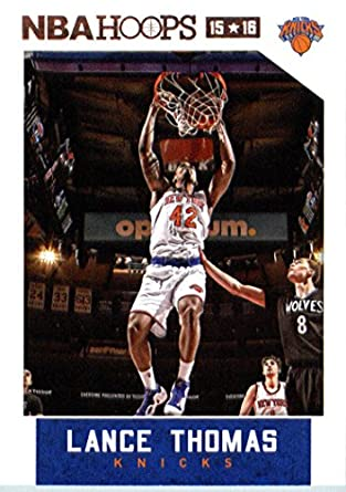 Amazon.com  2015-16 Panini NBA Hoops Basketball  252 Lance Thomas ... ee2ba76eb
