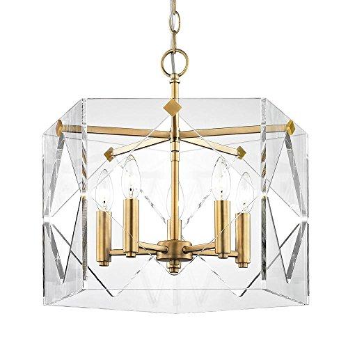 Fifth and Main Lighting Pentos 5-Light Aged Brass Acrylic Pendant