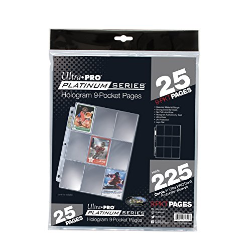 Signature Basketball Silver (Ultra Pro 9 Pocket Page Protectors, 25 Pack)