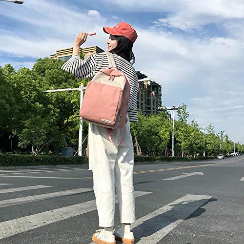 Libre de de Dos señoras Mochila de Bolsa Lona Capacidad Bolsa Gran Colores Costura Mochila Las de Estudiante Aire de múltiples Viaje al de de C Mochila usos Z4PPwxqY