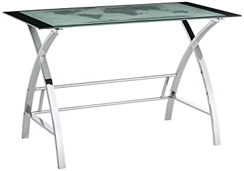 Amazoncom Powell World Map Printing Curved XSided Computer Desk