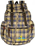 Cheap RUGGLIFE Vintage Canvas Backpack (Plaid Blue) Leather Military Rucksack Hiking Daypack Casual