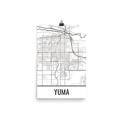 Street Map Of Yuma Arizona.Amazon Com Yuma Print Yuma Art Yuma Map Yuma Az Yuma