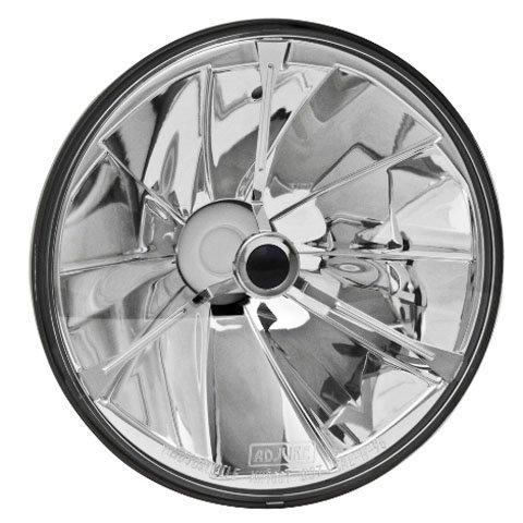 ADJURE(アジュール) ハーレー用 7インチ ハロゲンヘッドライト PIE-CUT ブラックドット B078MFC7HK