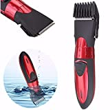 Hair Trimmer LUCKYFINE Washable Men Shaver Rechargeable Men's Red Beard Hair Clipper