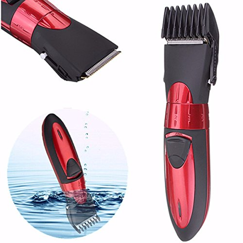 Hair Trimmer LUCKYFINE Washable Men Shaver Rechargeable Men's Red Beard Hair Clipper