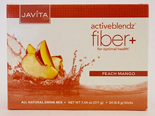 Javita Activeblendz Fiber+ All Natural Drink Mix 24 Count Peach Mango