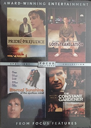 Focus Features Pack (The Constant Gardener, Eternal Sunshine of the Spotless Mind, Lost in Translation, Pride & Prejudice) (Pack Shine)