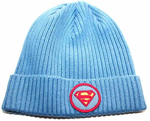 baby-gap-junk-food-toddler-boys-2t-3t-ribbed-blue-superman-beanie-cap