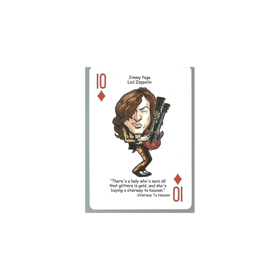 JIMMY PAGE   Led Zeppelin   ROCK & ROLL Playing Card