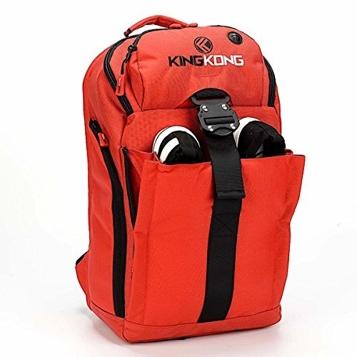 "King Kong Mini Backpack - Military Spec Nylon Gym Backpack with Expandable Pockets and Heavy Duty Buckles for Active Lifestyle - 18"" x 11"" x 5.5"" - Red"