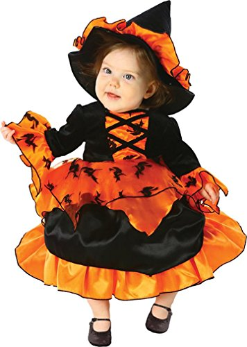 Little Orange Witch Dress and Hat Toddler/Child Costume