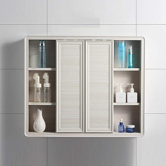 Armarios con espejo de Aluminio de Pared Mueble de Espejo de baño ...