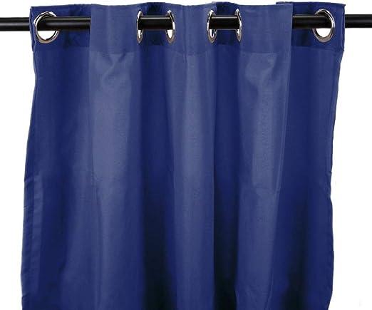 1 pieza 84 pulgadas a color, Admiral Gazebo cortina solo Panel, azul marino Color sólido patrón Rugby colores fuera, al aire libre Pergola Drapes porche, deck, patio Protector de entrada Sunroom Lanai: